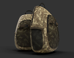 military camouflage backpack or day day pack 3D Product