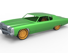 3D print model Diecast shell and wheels Chevrolet Impala 4