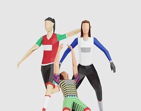 3D model Football Women