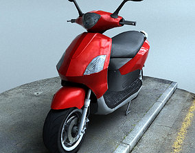 Scooter 3D model realtime