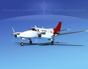 3D model Beechcraft King Air C100 V07
