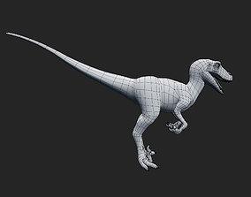 Making 3D Raptor In Blender animated low-poly