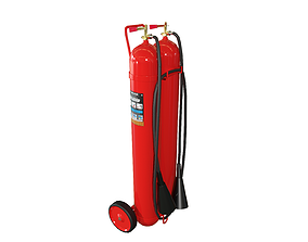 3D asset Fire extinguisher CLEAN Game-Ready