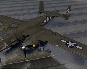 North American B-25H Mitchell ww2 3D