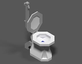Toilet JSON Model 3D asset