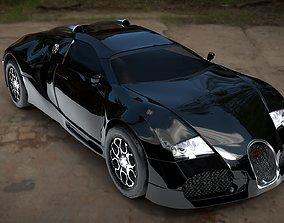 3D asset VR / AR ready Bugatti Veyron