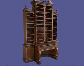 3D asset Antique Victorian Bookcase