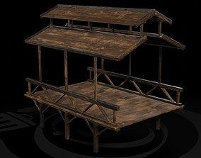 AAA Medieval Wooden Bridge 03 R 3D asset