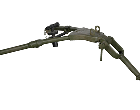 3D asset Tripod - M2 Browning Machine Gun Low Poly