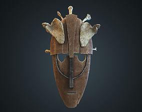 Mask with human bones 3D model