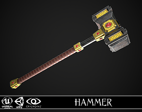 3D asset Fantasy Great Hammer 03