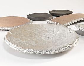3D model Japanese Tableware Set 2