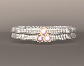 3D asset Necklace Gem Silver