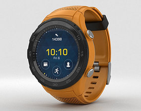 Huawei Watch 2 Dynamic Orange 3D model
