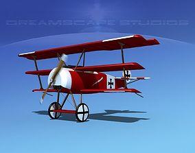 Fokker DR-1 Triplane V03 3D
