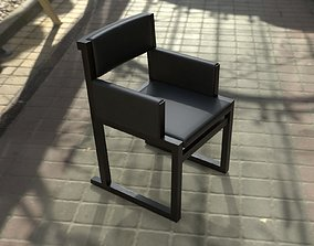 Camerich Emily armchair - dark imitation leather 3D asset