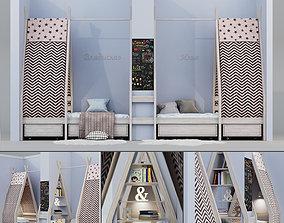 Childrens Bed - Wigwam house 3D model