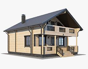 3D model Log House 01
