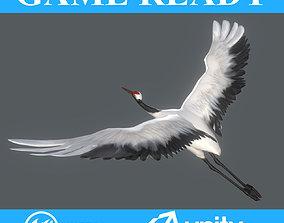 3D asset Low poly Crane Bird Animated - Game Ready