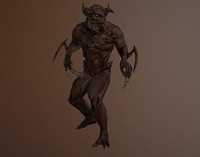 Monster 3D asset animated