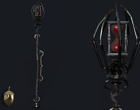 3D asset Drow Sorceress Staff