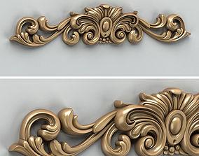 3D model Carved decor horizontal 010