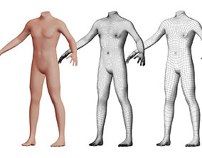 Character 33 High and Low-poly - Body male 3D model
