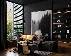 Black Apartment Design 3D