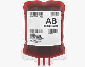VR / AR ready Medical Blood Bag I PBR Model 3D model