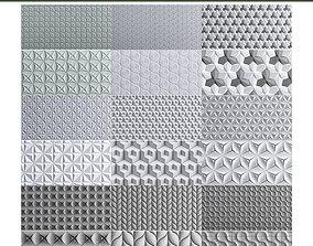 3D asset Wall panel 10 pieces