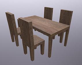 Simple Wooden Furniture 3D model