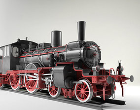 Prussian P4 BR36 Steam Locomotive 3D model