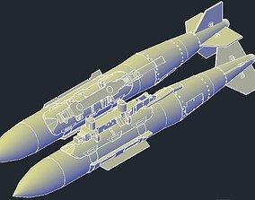 3D printable model Revell B-1B Lancer MPRL JDAM GBU-31V3