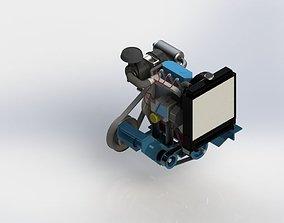 3D 34HP Diesel Engine