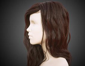 3D model Long hair for production render in
