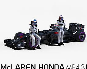 3D asset McLaren Mp4 31