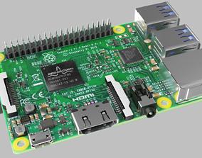 Raspberry pi 3 3D asset VR / AR ready