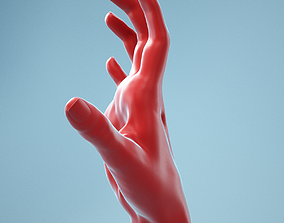 Stretched Claw Realistic Hand Model 08 3D