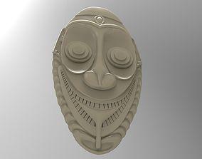 3D printable model tiki mask