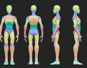 Man anatomy body blocking 3D model