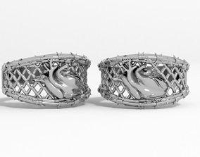 3D printable model thorns ring heart