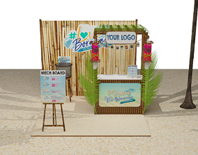 3D Booth Outdoor Beach