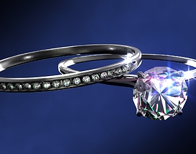 other Engagement and Wedding Rings 3D model