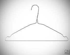 rigged 30cm Realistic Thin Metal Hanger for Dressing 3