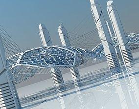 Futuristic Architectural Structure 15 3D