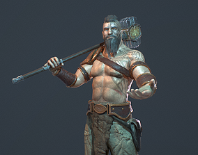 3D model rigged Warrior smith