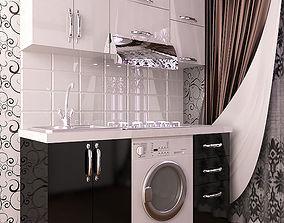 Kitchen Modern Hesen 3D model