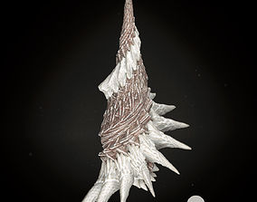 Martian Shell Tusk 3D Model fractal