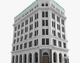 3D New York corner building