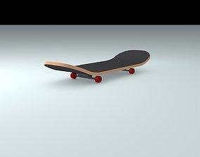 Skateboard skating 3D asset low-poly